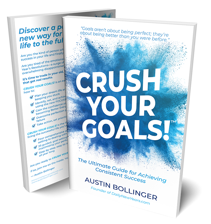 Photo of the Crush Your Goals! book by Austin Bollinger